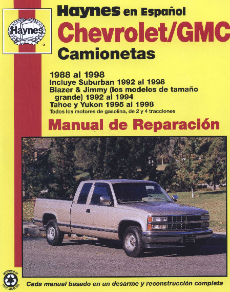 Manual De Reparacin Chevrolet Blazer 1998 1998 Club Blazer Chile